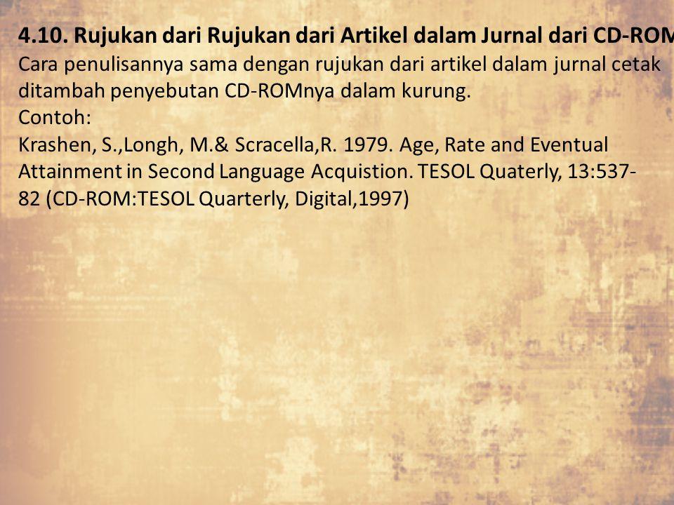 4.10. Rujukan dari Rujukan dari Artikel dalam Jurnal dari CD-ROM