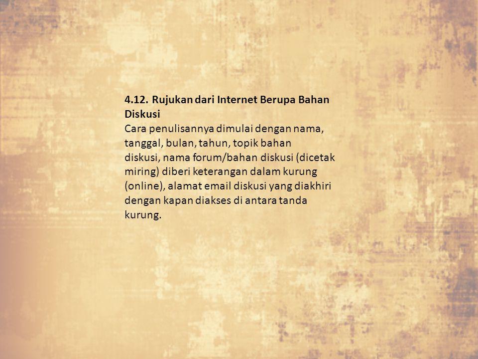 4.12. Rujukan dari Internet Berupa Bahan Diskusi