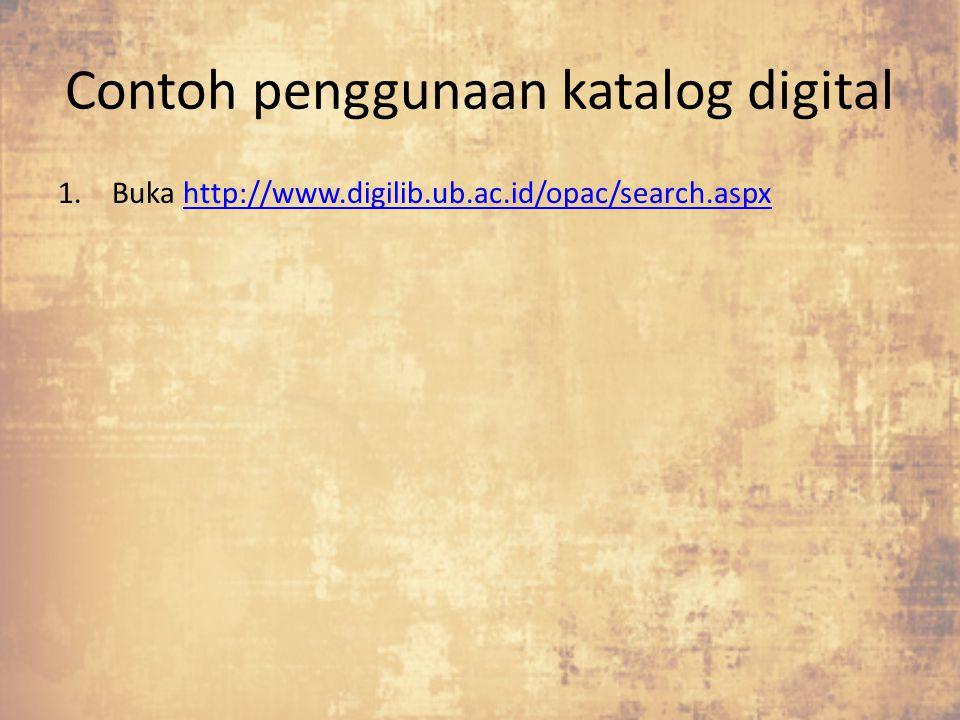 Contoh penggunaan katalog digital