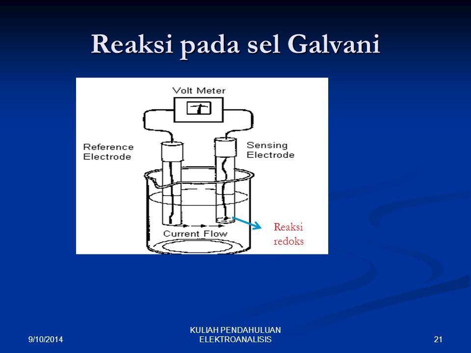 Reaksi pada sel Galvani