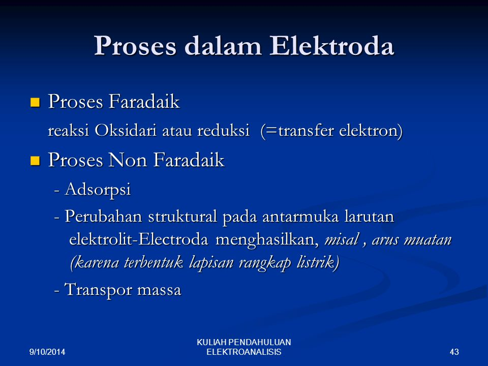Proses dalam Elektroda