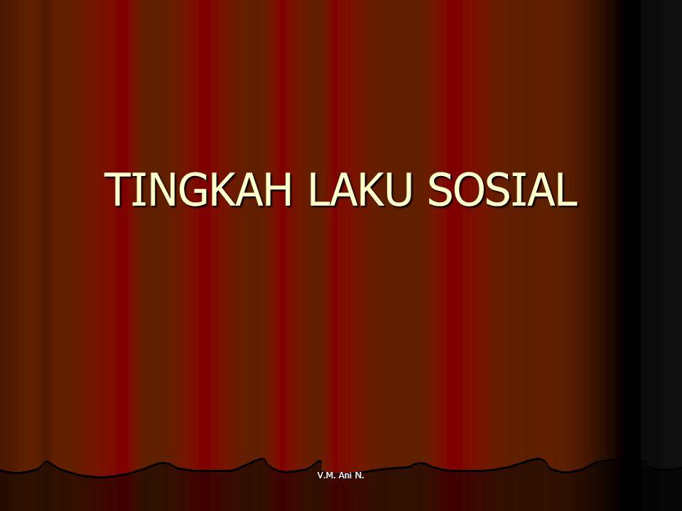 TINGKAH LAKU SOSIAL V.M. Ani N.