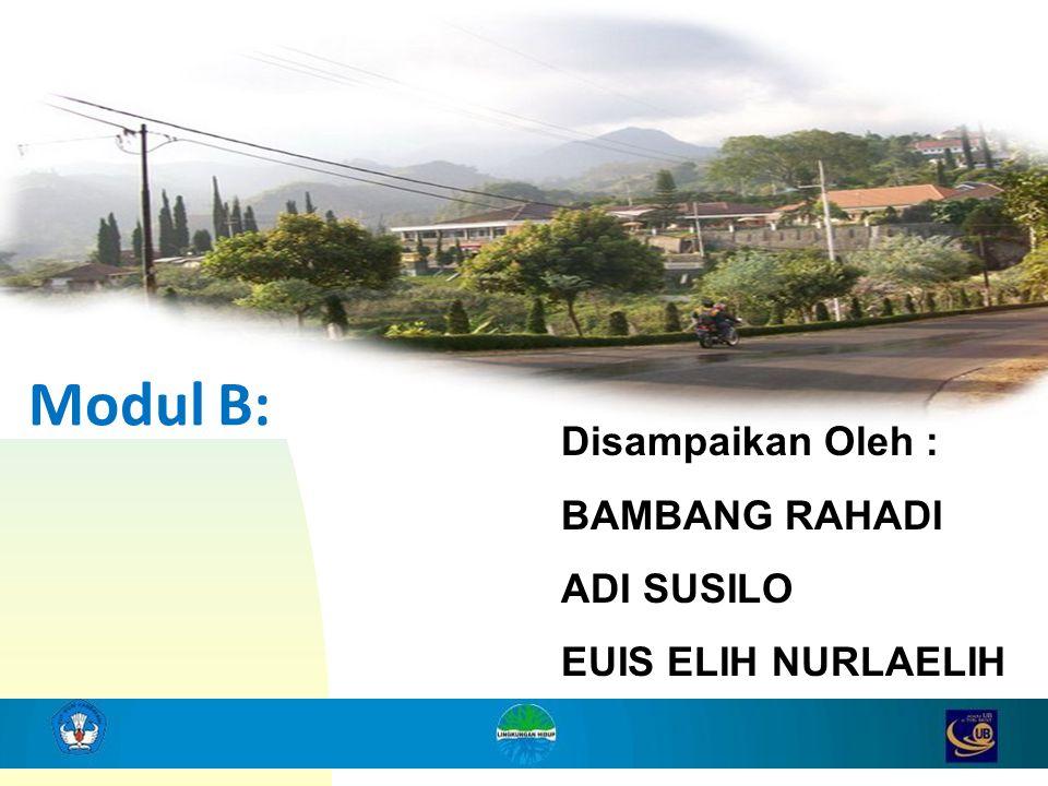 Modul B: Disampaikan Oleh : BAMBANG RAHADI ADI SUSILO