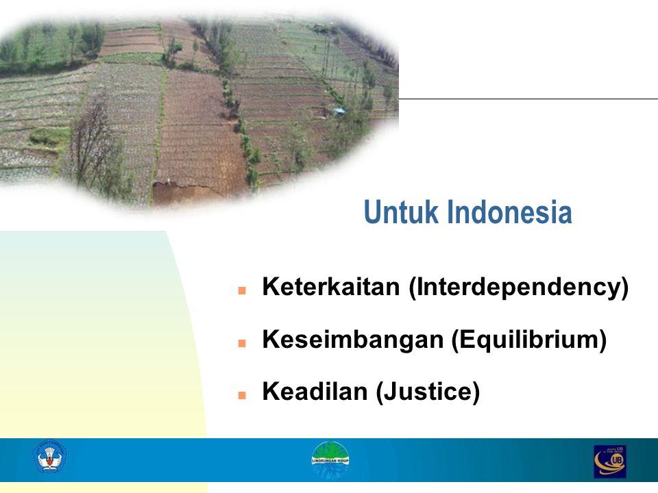 Untuk Indonesia Keterkaitan (Interdependency)