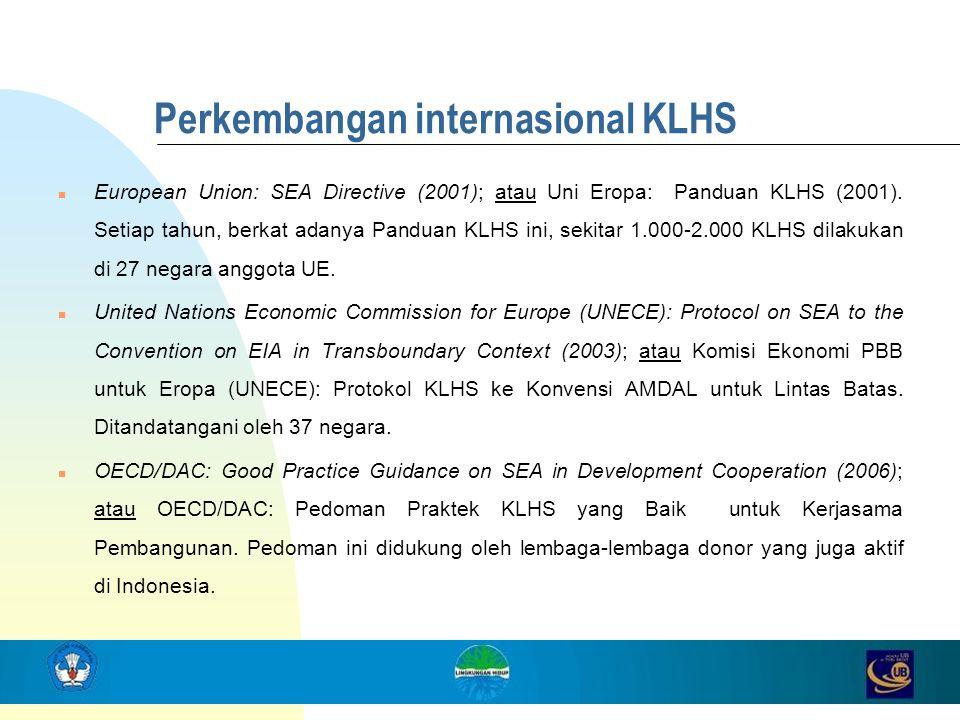 Perkembangan internasional KLHS