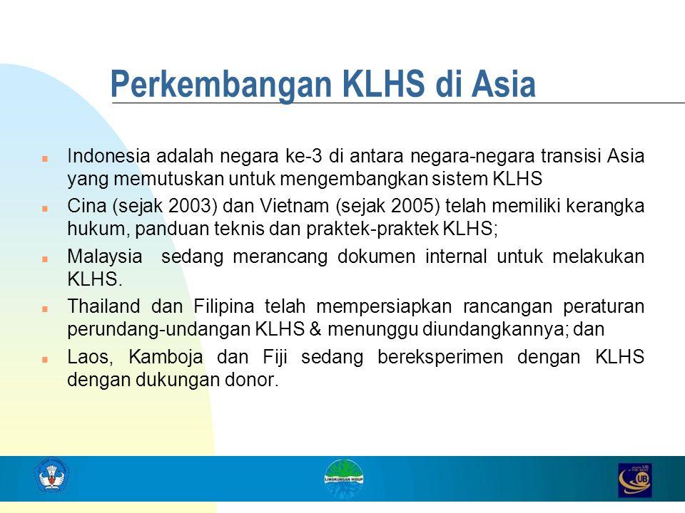 Perkembangan KLHS di Asia