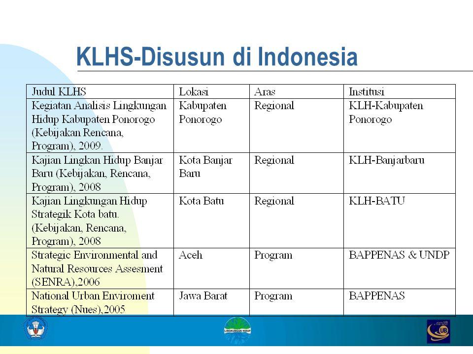 KLHS-Disusun di Indonesia