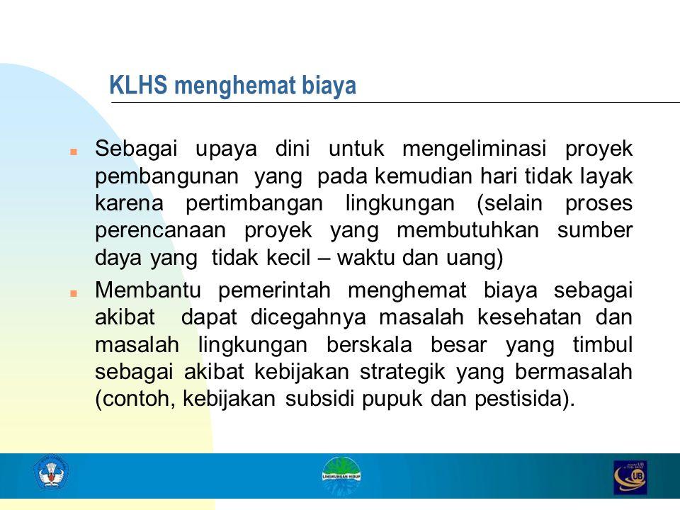 KLHS menghemat biaya