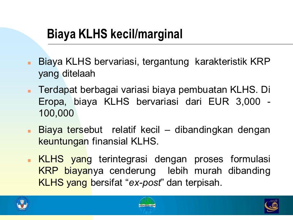 Biaya KLHS kecil/marginal