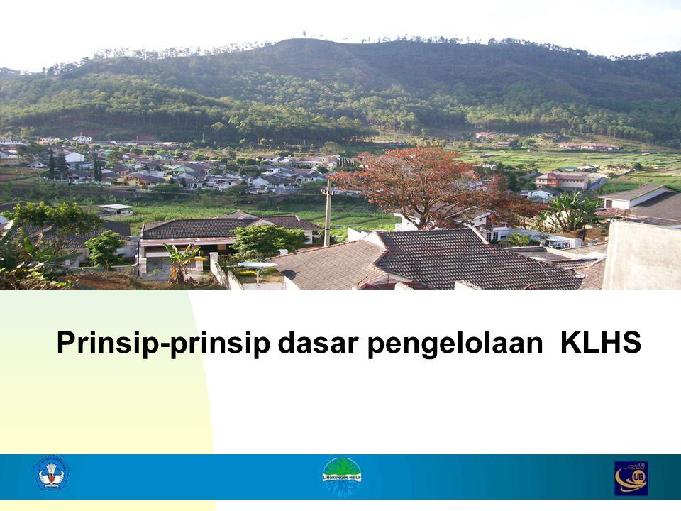 Prinsip-prinsip dasar pengelolaan KLHS