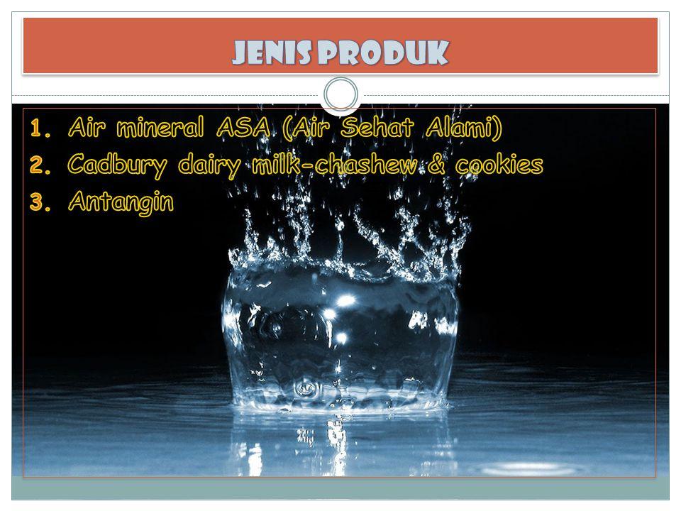 JENIS PRODUK Air mineral ASA (Air Sehat Alami)