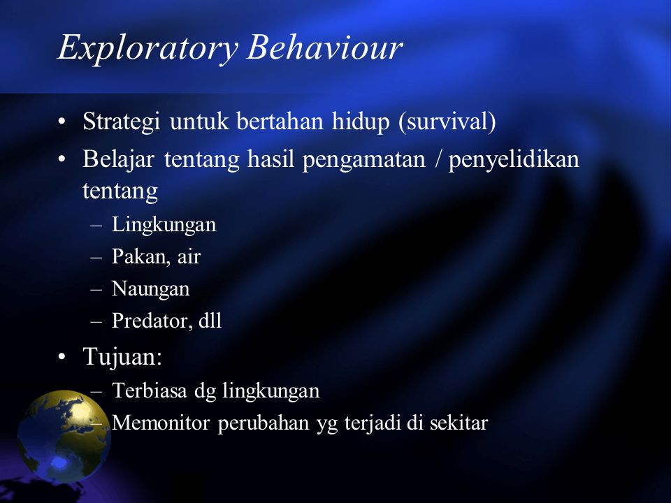 Exploratory Behaviour