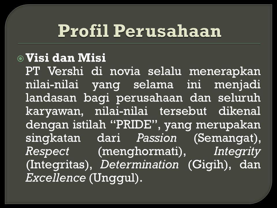 Profil Perusahaan Visi dan Misi