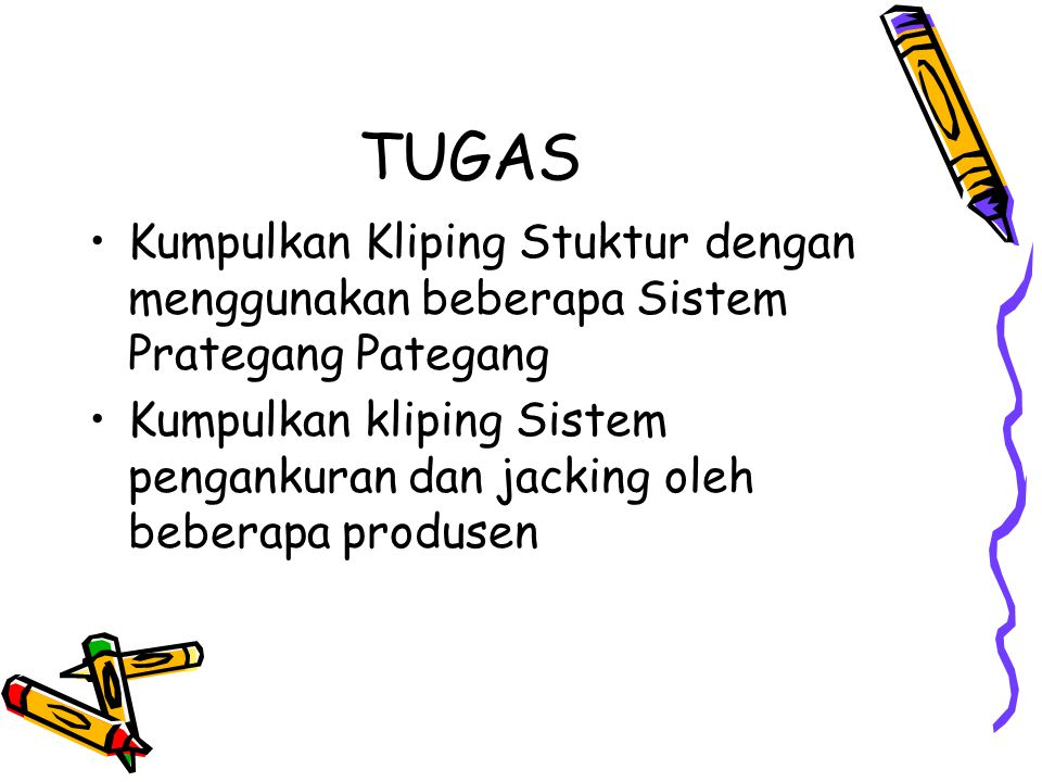 TUGAS Kumpulkan Kliping Stuktur dengan menggunakan beberapa Sistem Prategang Pategang.