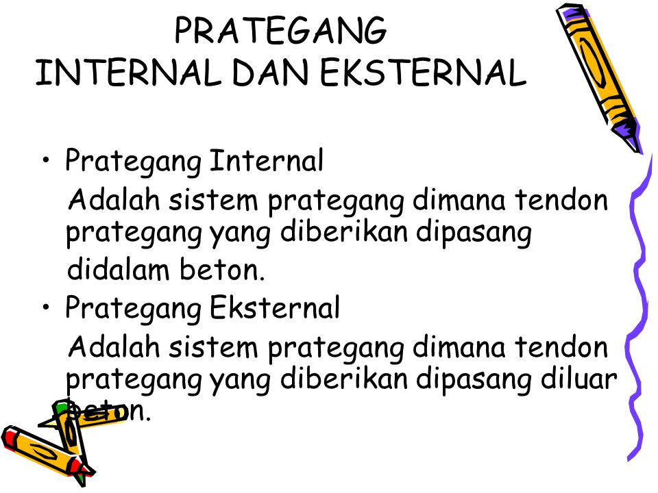 PRATEGANG INTERNAL DAN EKSTERNAL