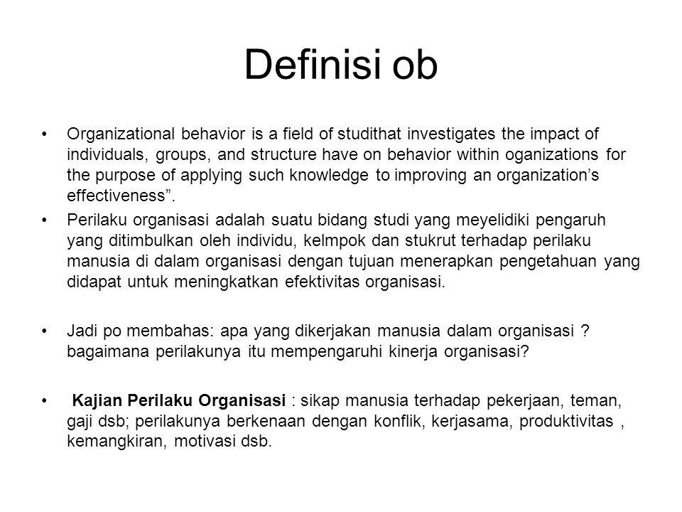Definisi ob