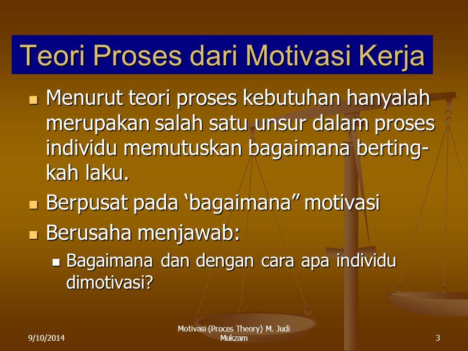 Teori Proses dari Motivasi Kerja