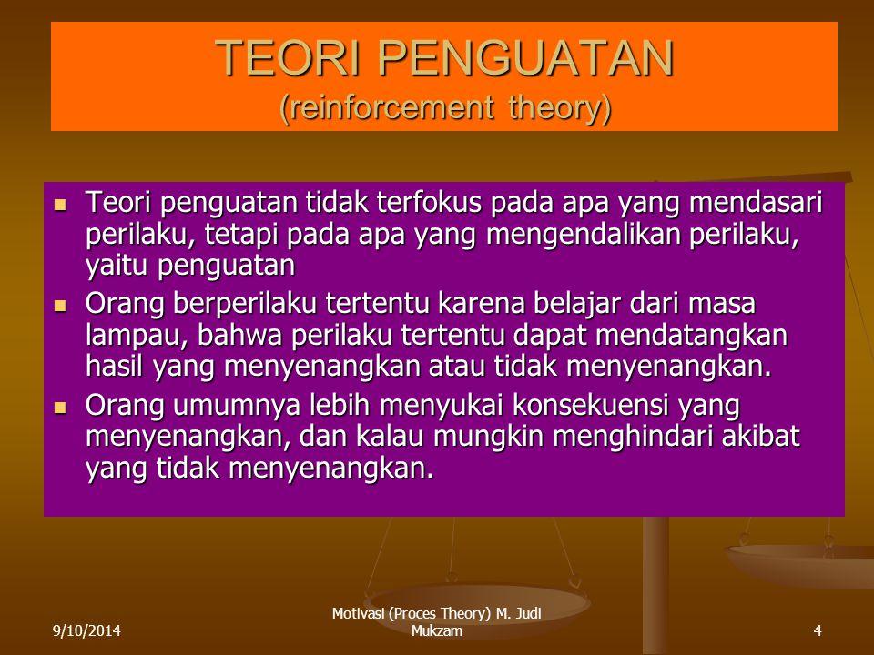 TEORI PENGUATAN (reinforcement theory)