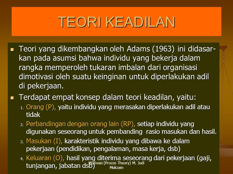 Motivasi (Proces Theory) M. Judi Mukzam