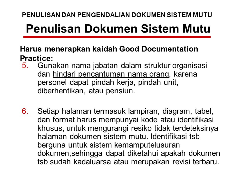 Penulisan Dokumen Sistem Mutu