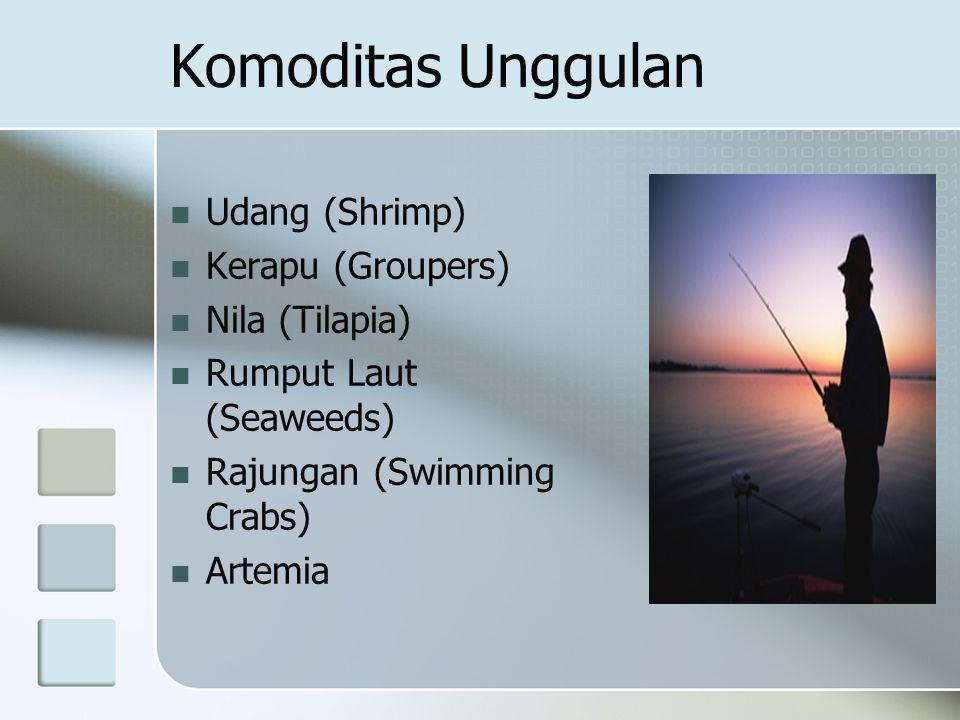 Komoditas Unggulan Udang (Shrimp) Kerapu (Groupers) Nila (Tilapia)
