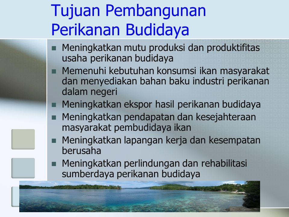 Tujuan Pembangunan Perikanan Budidaya