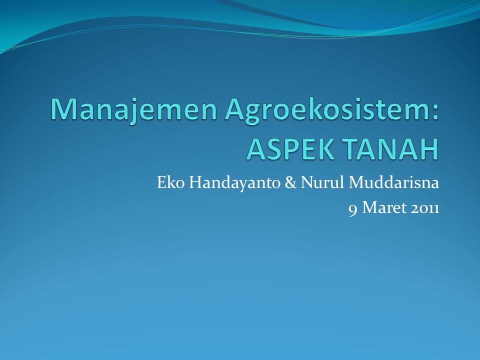 Manajemen Agroekosistem: ASPEK TANAH