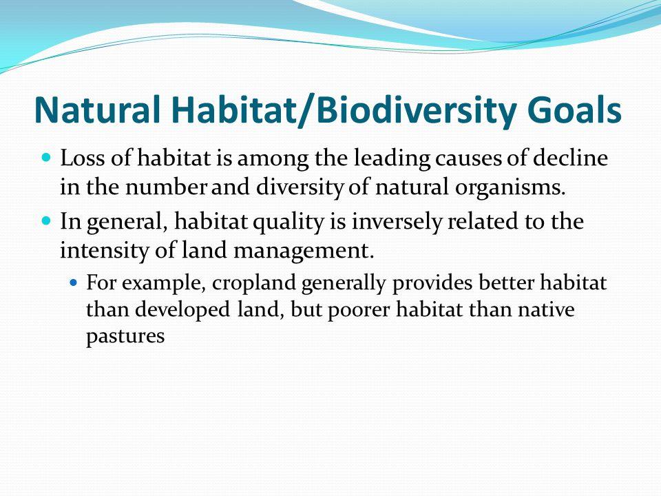Natural Habitat/Biodiversity Goals