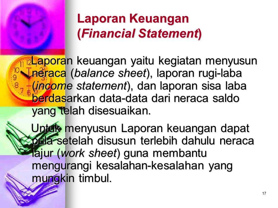 Laporan Keuangan (Financial Statement)