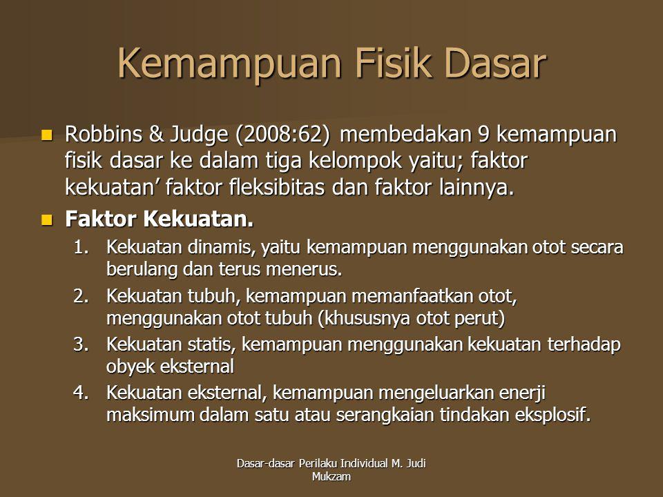 Dasar-dasar Perilaku Individual M. Judi Mukzam