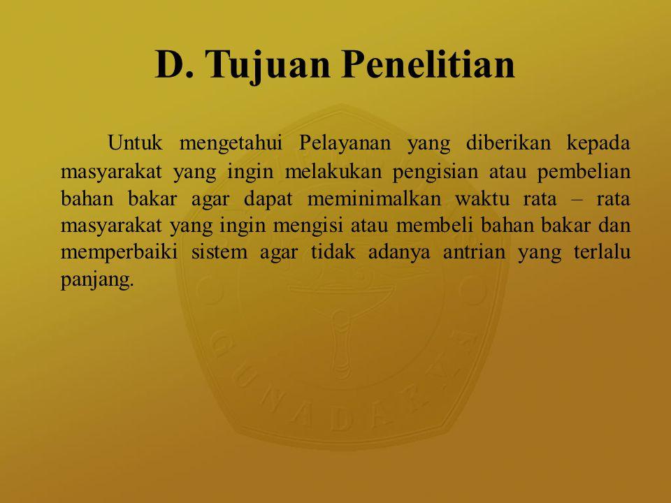 D. Tujuan Penelitian