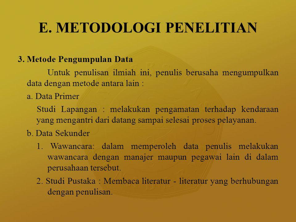 E. METODOLOGI PENELITIAN