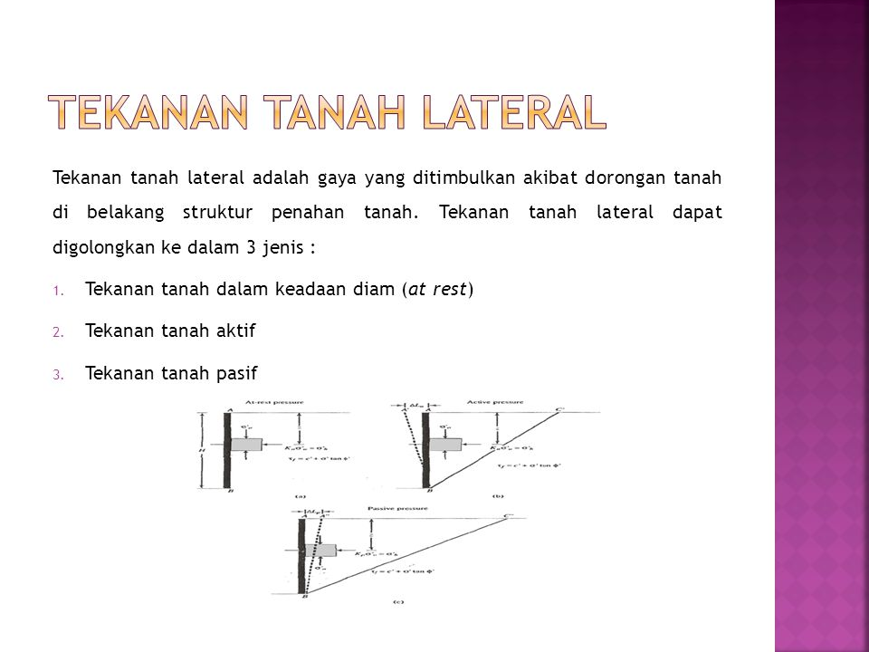 Tekanan tanah lateral