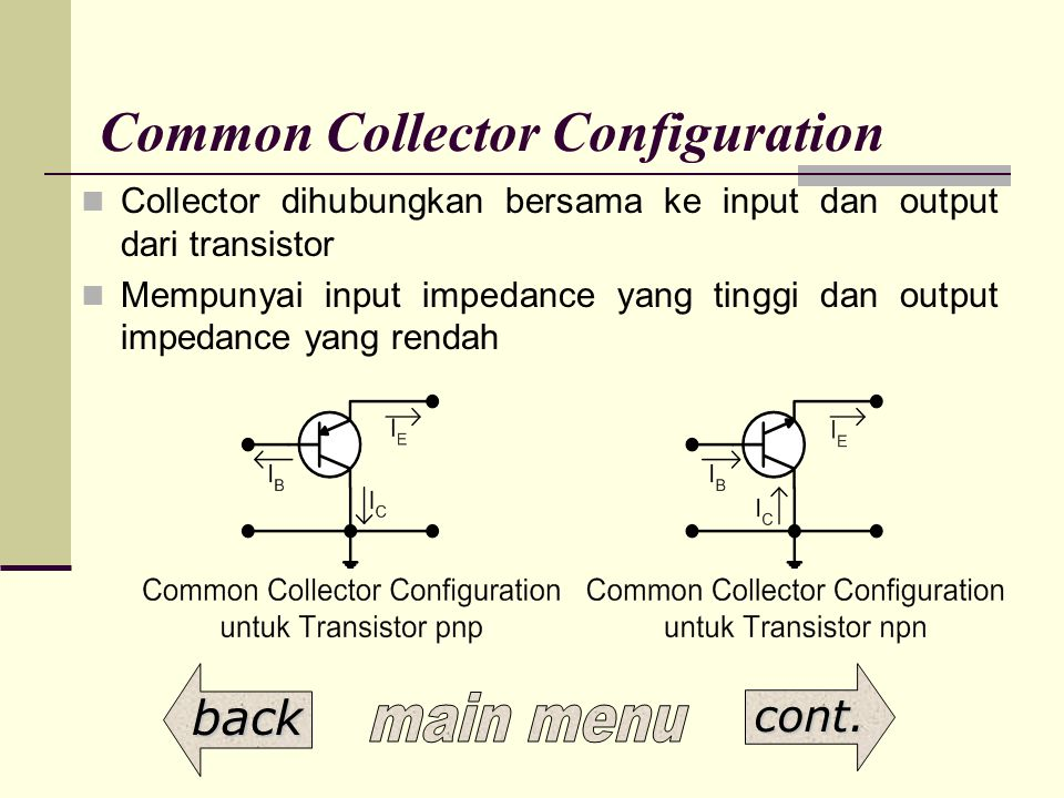 Common Collector Configuration