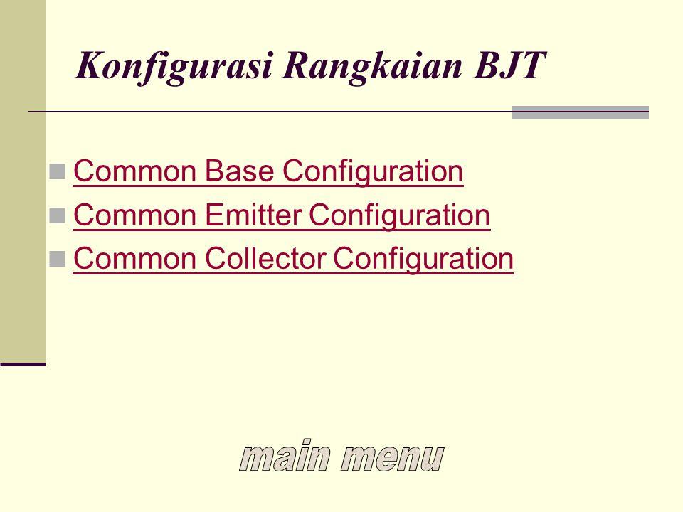 Konfigurasi Rangkaian BJT