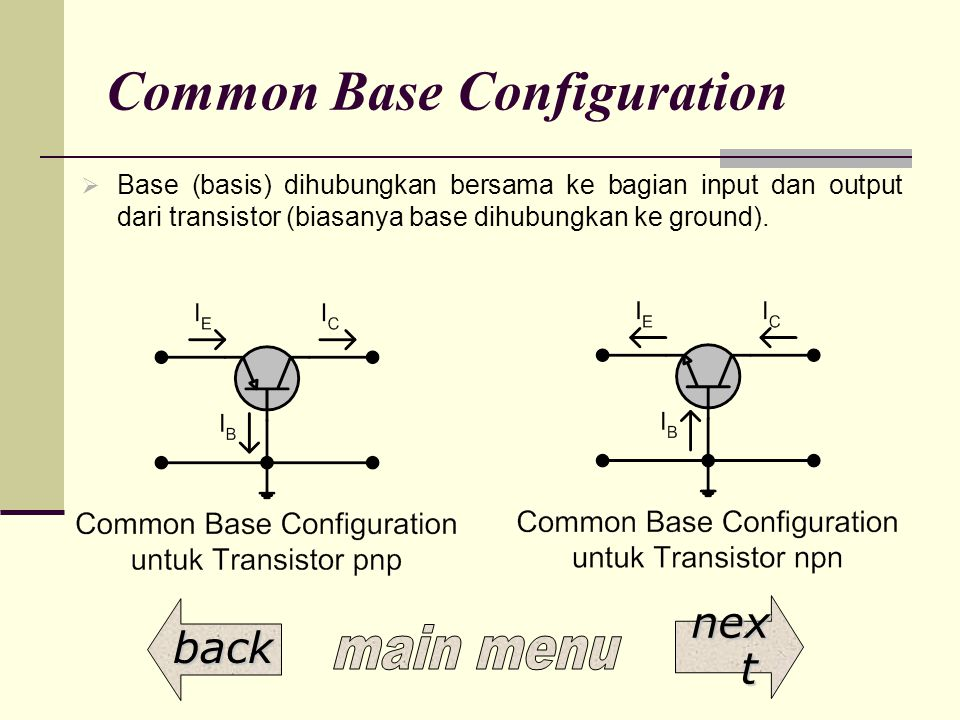 Common Base Configuration
