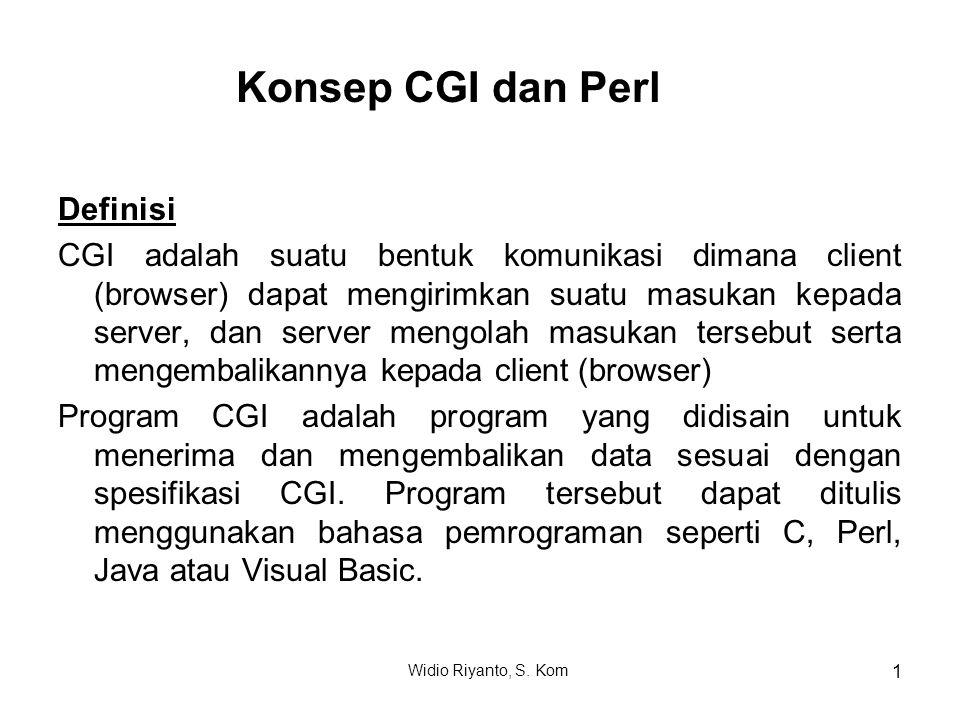 Konsep CGI dan Perl