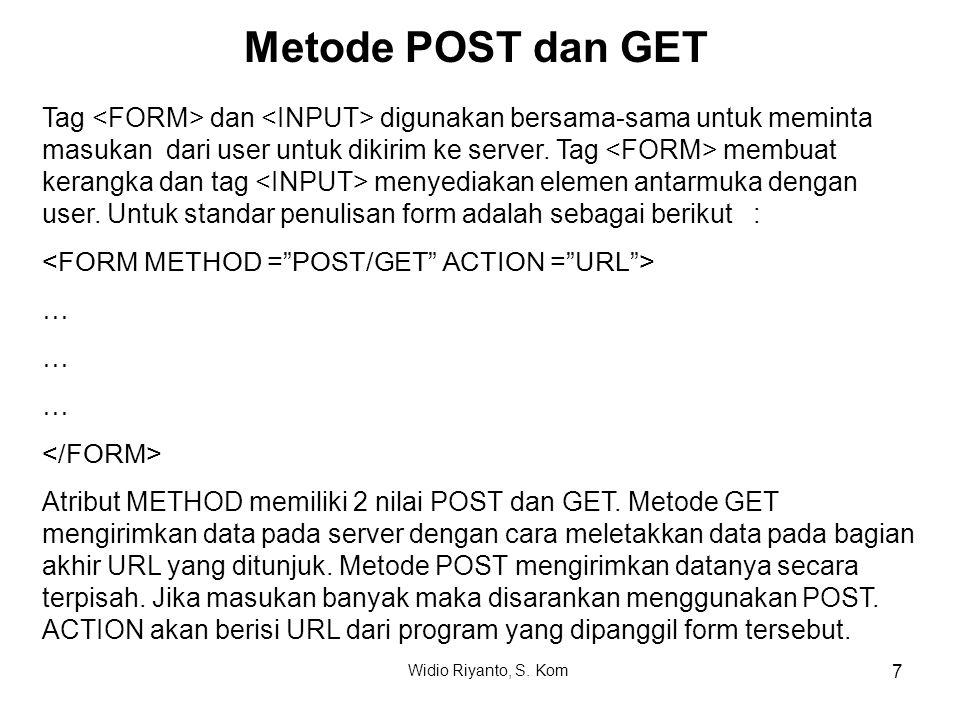 Metode POST dan GET