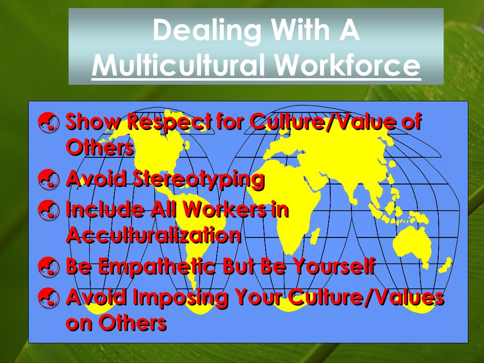 Dealing With A Multicultural Workforce