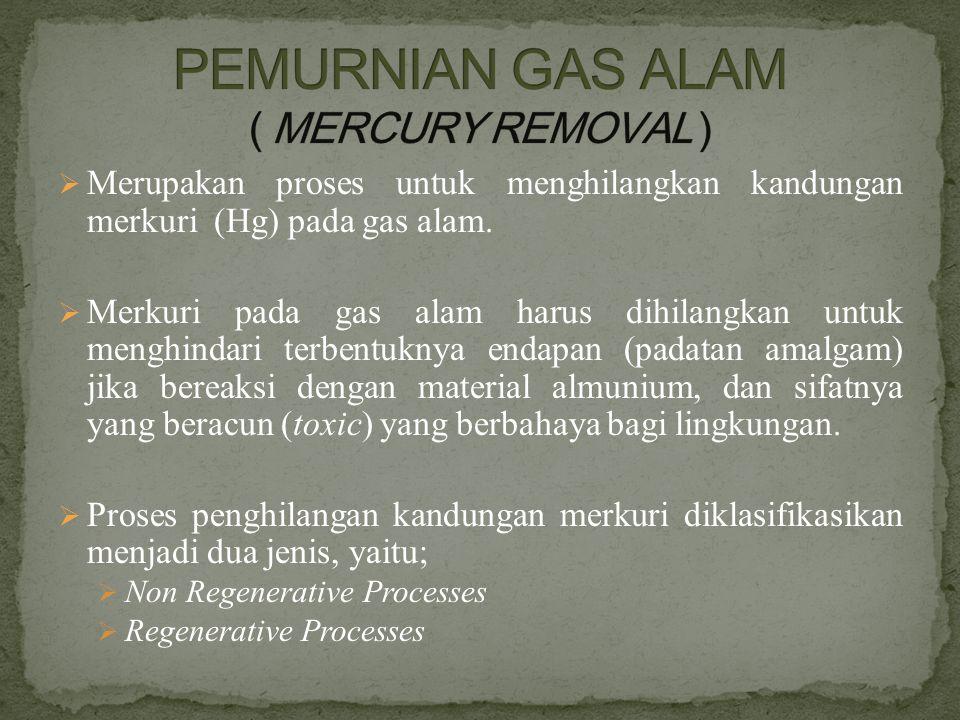 PEMURNIAN GAS ALAM ( MERCURY REMOVAL )