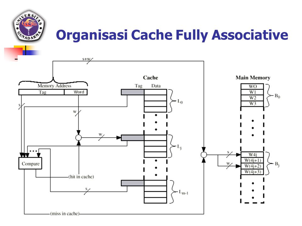 Organisasi Cache Fully Associative