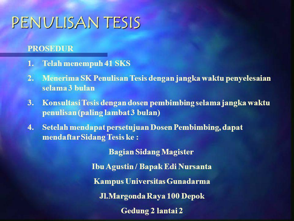 Ibu Agustin / Bapak Edi Nursanta Kampus Universitas Gunadarma
