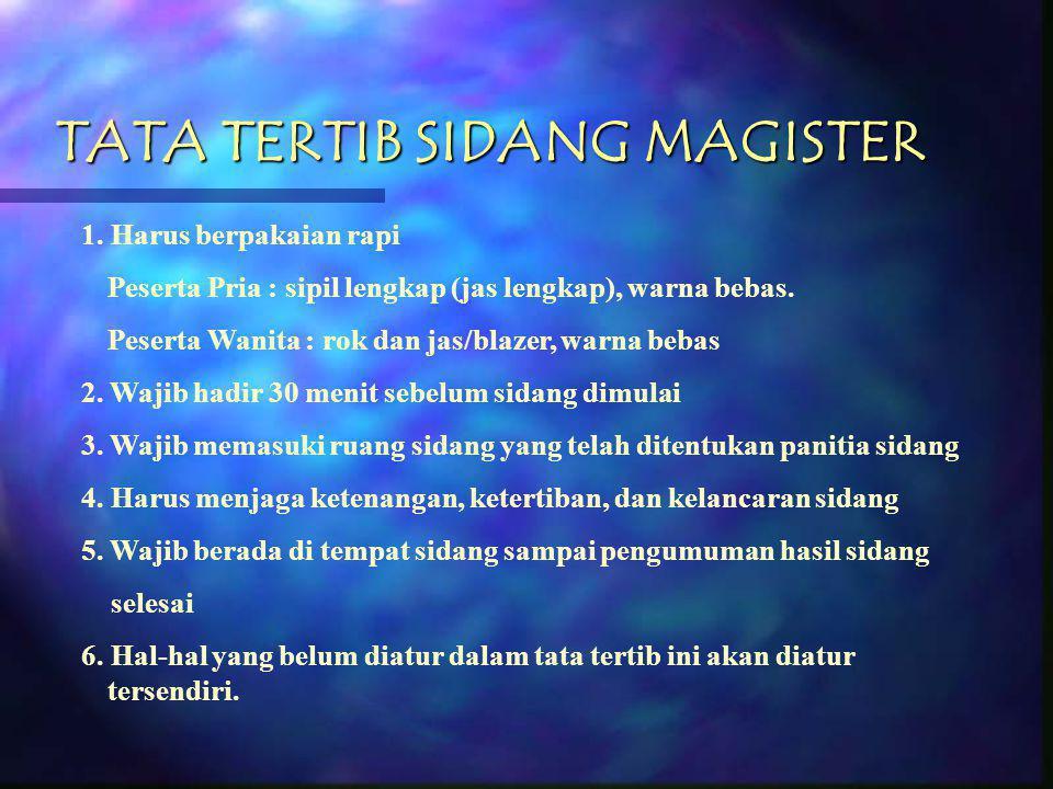 TATA TERTIB SIDANG MAGISTER