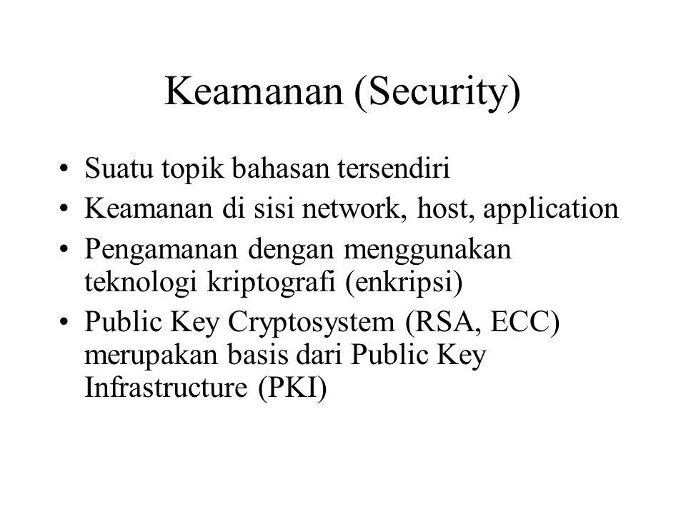 Keamanan (Security) Suatu topik bahasan tersendiri