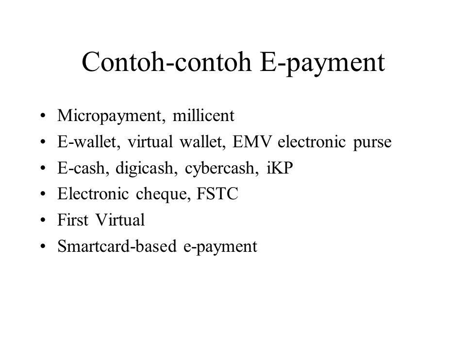 Contoh-contoh E-payment