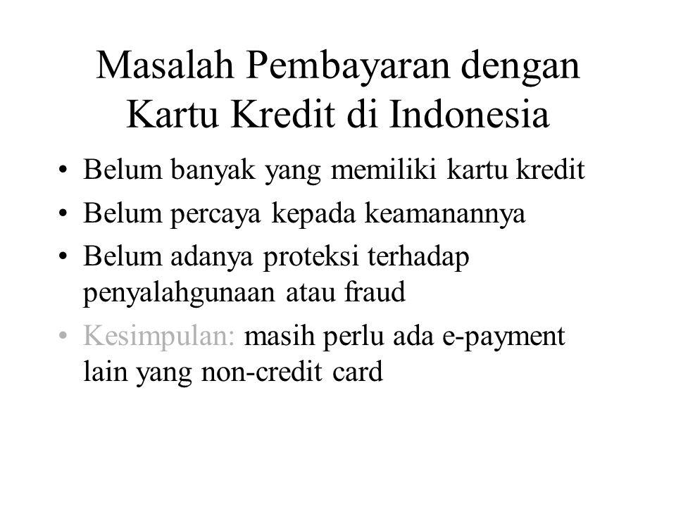 Masalah Pembayaran dengan Kartu Kredit di Indonesia