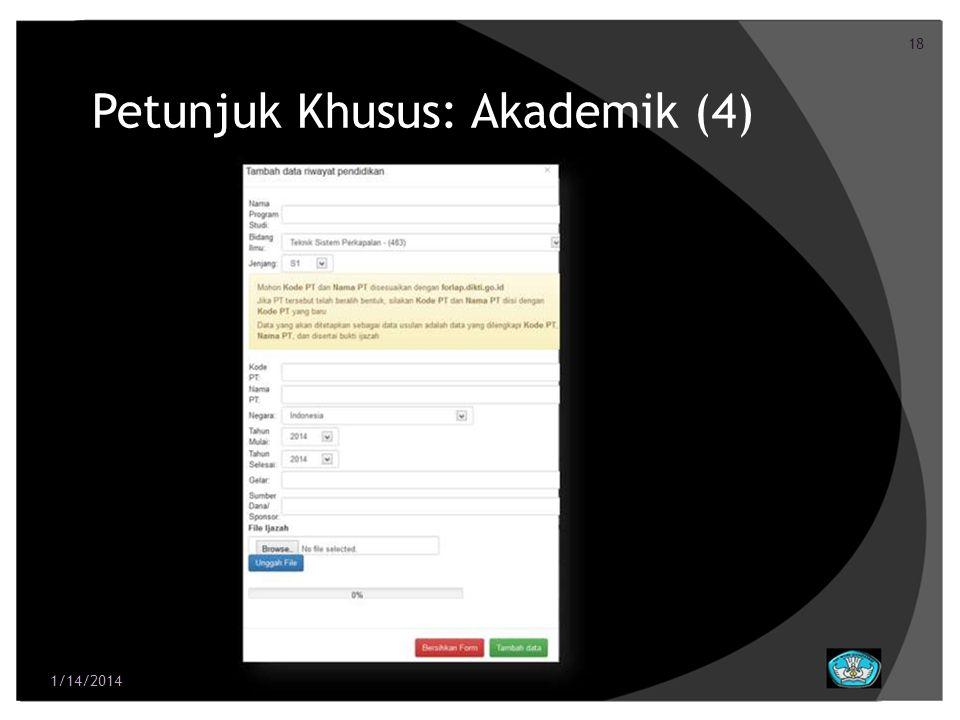 Petunjuk Khusus: Akademik (4)