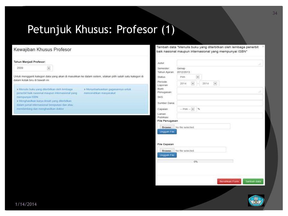 Petunjuk Khusus: Profesor (1)