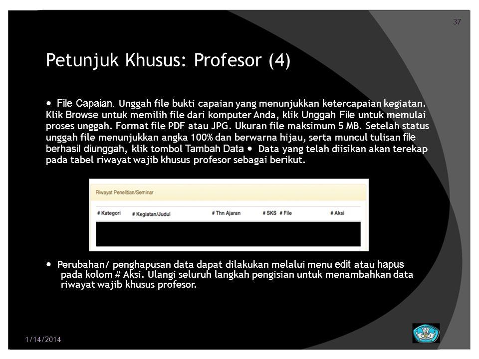 Petunjuk Khusus: Profesor (4)