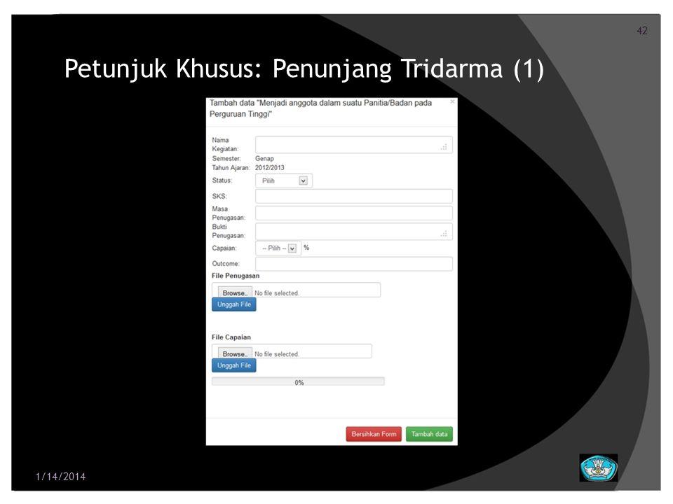 Petunjuk Khusus: Penunjang Tridarma (1)